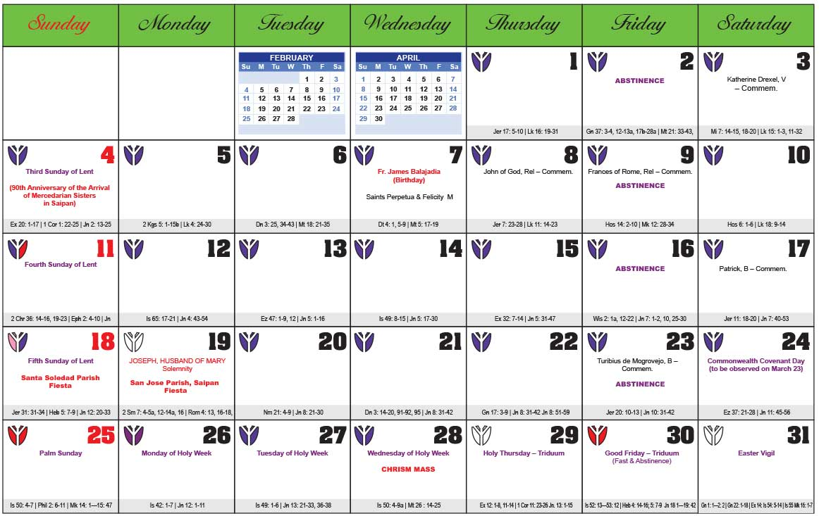 March Events Roman Catholic Diocese Of Chalan Kanoa